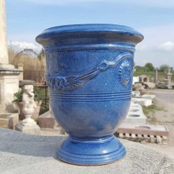 VASE ANDUZE BLEU TRADITION N°6 H24