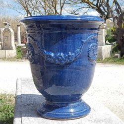 VASE ANDUZE BLEU TRADITION N°4 H43